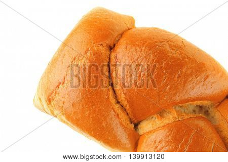 french white whole bread isolated over white