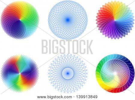 Abstract spirograph element set