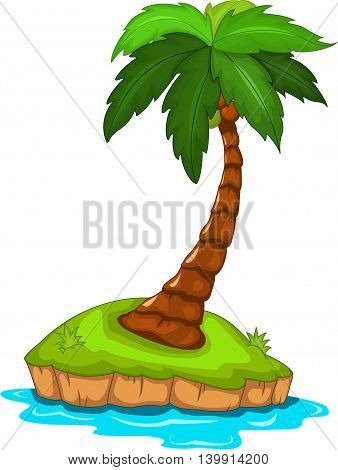 beauty palm tree cartoon for you design