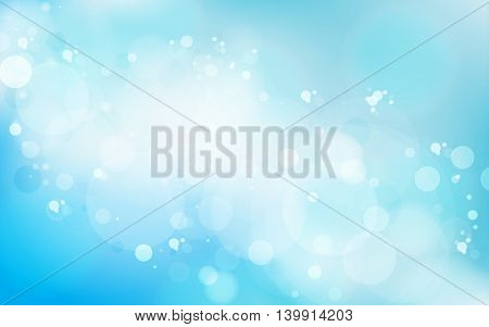 Abstract blue light vector background. Contemporary background graphic.