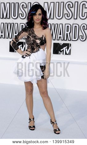 Katy Perry at the 2010 MTV Video Music Awards held at the Nokia Theatre L.A. Live in Los Angeles, USA on September 12, 2010.
