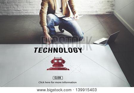 Technology Digital Evolution Internet Science Concept
