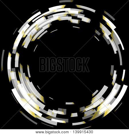 Abstract black and white technology circles background, stock vector