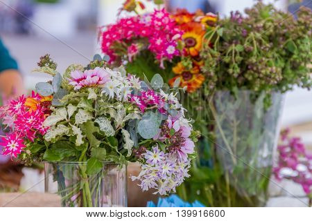 floral background, fresh natural flowers