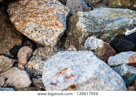 Rock texture in close up for background