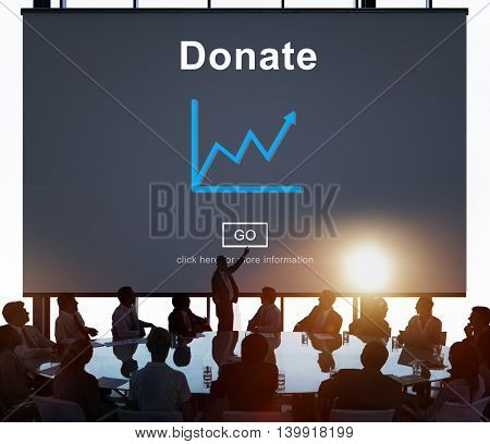 Donate Aid Give Help Offering Volunteer Charity Concept