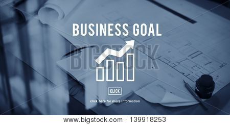 Business Progress Report Graph Concept