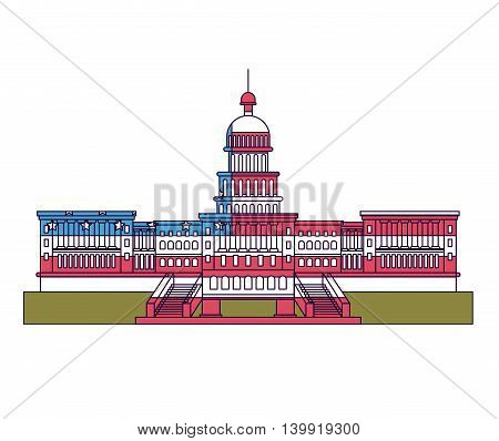 united states capitol isolated icon design, vector illustration  graphic