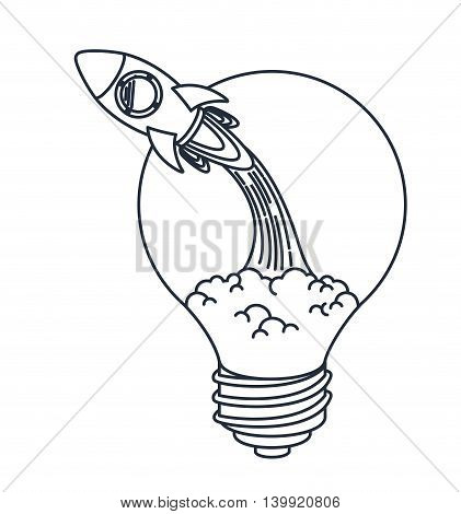 rocket launcher of bulb isolated icon design, vector illustration  graphic