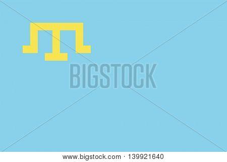Vector Crimean Tatar flag