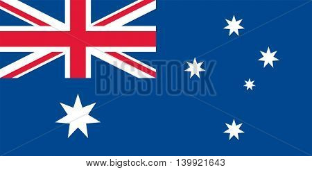 Vector Commonwealth of Australia flag