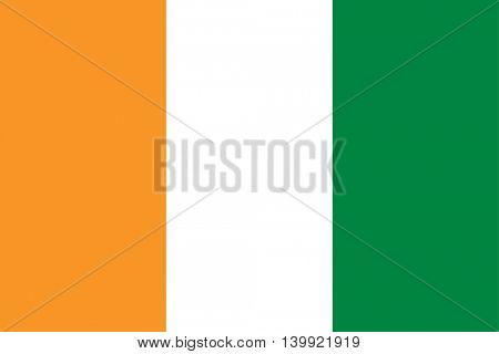 Vector Cote d'Ivoire flag