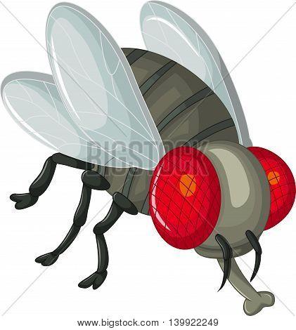Cute little cartoon flies for you design