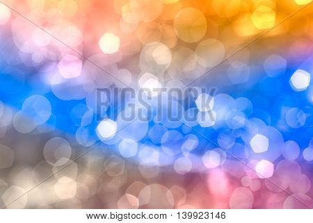 Christmas New Year Background. Abstract Background With Colorful Bokeh And Bright Lights. .