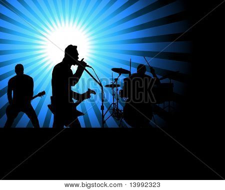 Rock group singers theme. Vector illustration for design use.