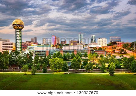 Knoxville, Tennessee, USA downtown at World's Fair Park.