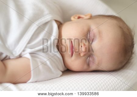 Four months old baby sleeping