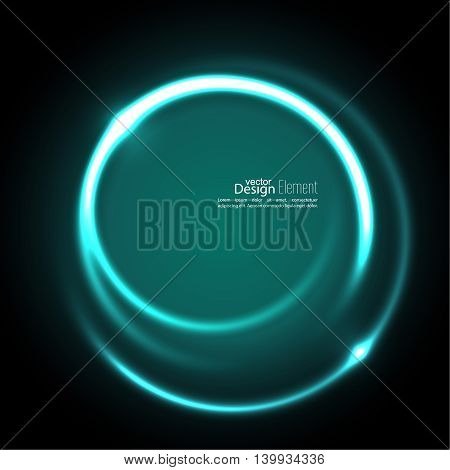 Abstract background with luminous swirling backdrop. Intersection curves. Glowing spiral. The energy flow tunnel. Vector. turquoise,  aquamarine, green