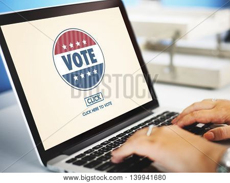 Vote Voter Voting Campaign Choice Election Poll Concept