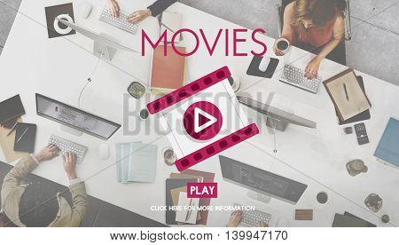 Movies Theater Cinema Audience Event Film Concept