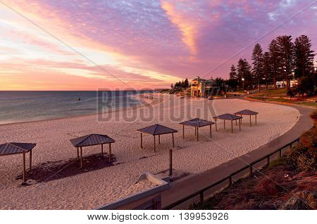 Sunset over Cottesloe Beach, Perth, Western Australia