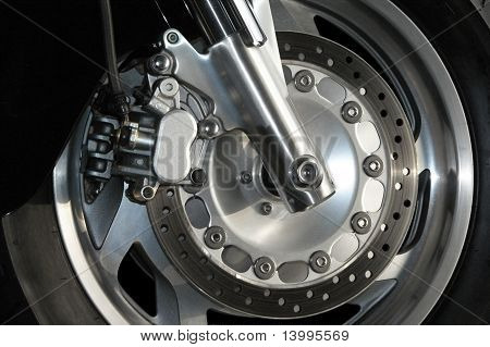 Motorcyle Wheel Close Up