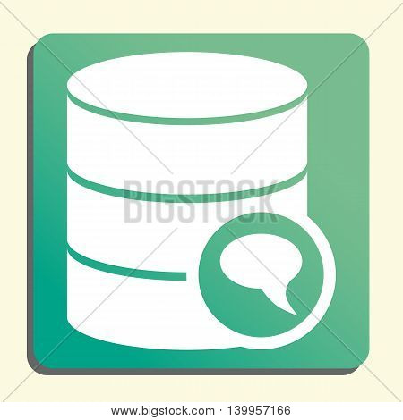 Database Discussion Icon In Vector Format. Premium Quality Database Discussion Symbol. Web Graphic D
