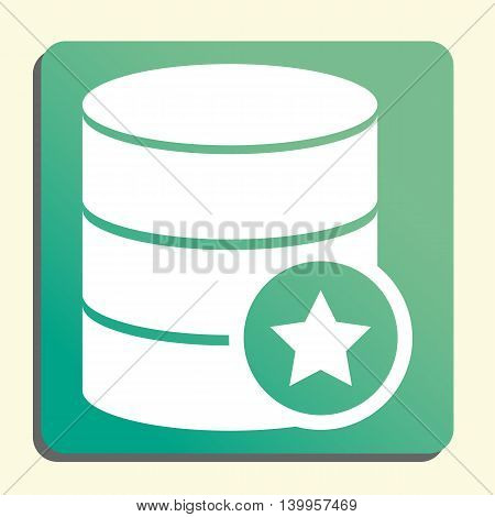 Database Star Icon In Vector Format. Premium Quality Database Star Symbol. Web Graphic Database Star