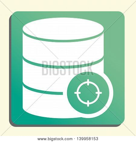Database Goal Icon In Vector Format. Premium Quality Database Goal Symbol. Web Graphic Database Goal