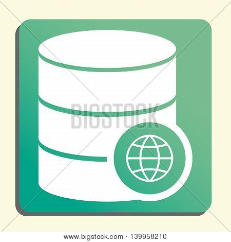 Database Internet Icon In Vector Format. Premium Quality Database Internet Symbol. Web Graphic Datab