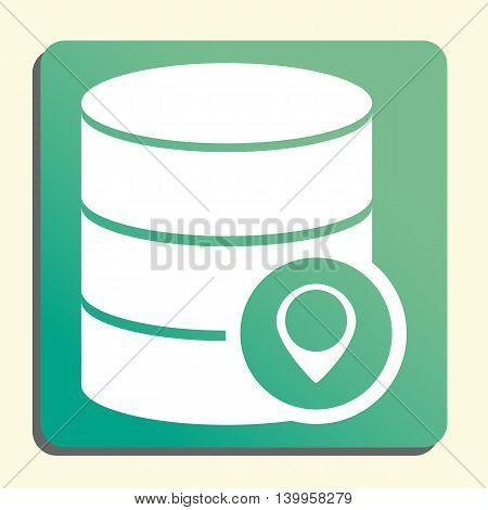 Database Location Icon In Vector Format. Premium Quality Database Location Symbol. Web Graphic Datab