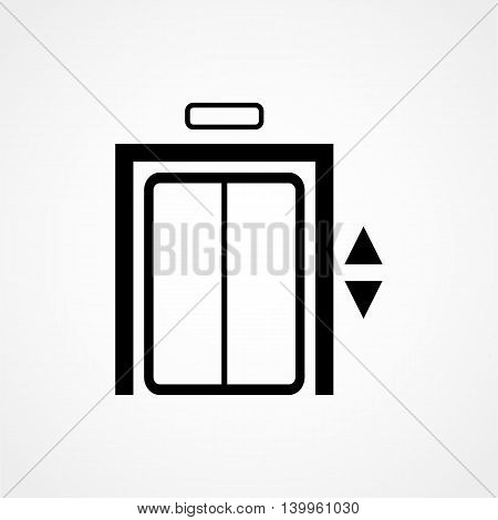 Elevator Icon On A White Background. Simple Vector Illustration