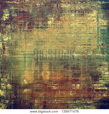 Retro style grunge background, mottled vintage texture. With different color patterns: yellow (beige); brown; gray; green; red (orange); purple (violet)