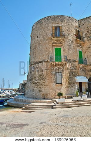 Panoramic view of Giovinazzo. Puglia. Southern Italy.