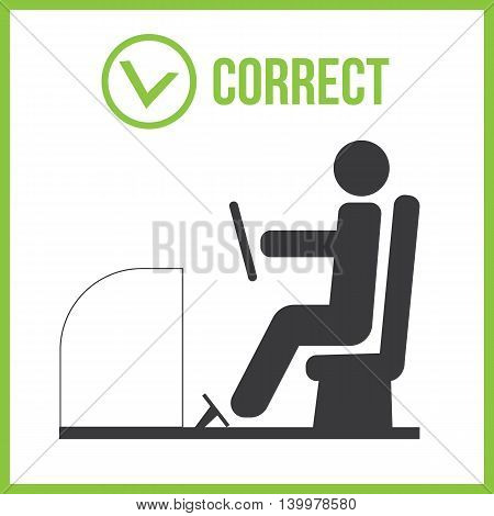 Correct and incorrect posture for driver eps10