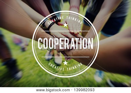 Cooperation Cooperate Collaboration Teamwork Concept