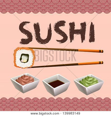 Sushi Background Design.