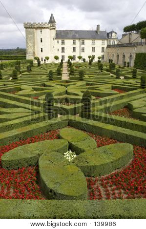 Formal Gardens At Chateau, De, Villandry, Loire, Valley, France