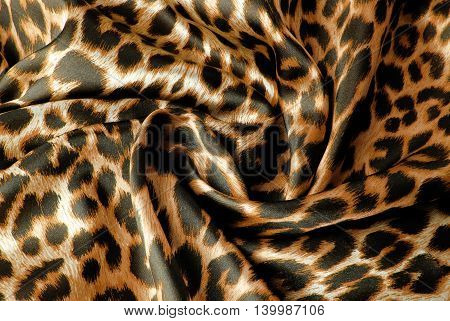 close up of the leopard print fabric texture