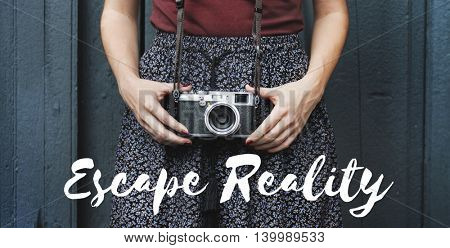 Escape Reality Dream Dreamer Vision Inspiration Concept