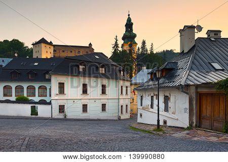 Castle in the old town of Banska Stiavnica, Slovakia.