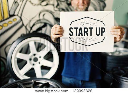 Garage Automotive Tuning Adjustment Startup Concept