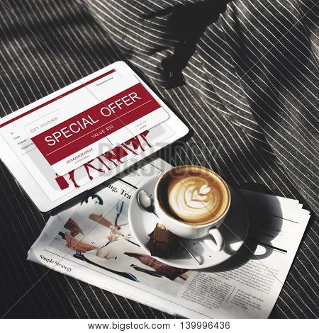 Coffee Relax Gift Voucher Concept