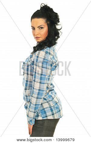 Profile Of Pretty Model Woman
