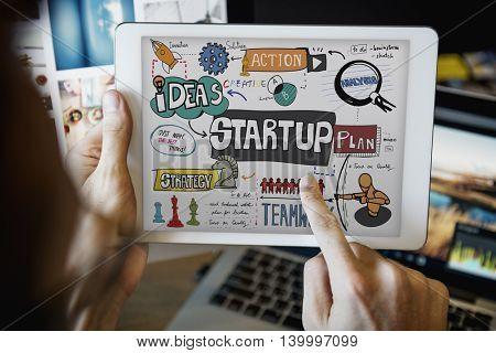 Startup Plan Analysis Graphic Concept