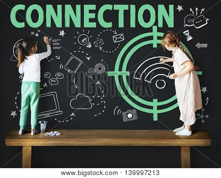 Connection Target Wifi Signal Graphics Concept