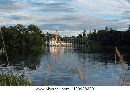 Gatchina, Russia - July 17, 2016: View Of Priory Palace In Gatchina