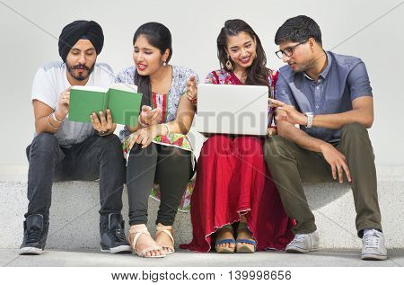 Friends Hangout Book Laptop Concept
