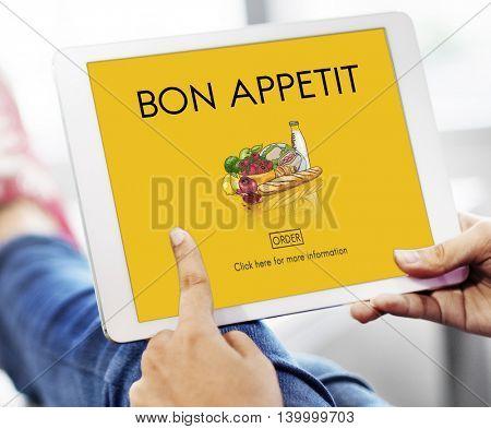 Bon Appetit Browsing Concept