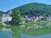 idyllic Village of Dausenau in Westerwald at River Lahn,Rhineland-Palatinate,Germany poster